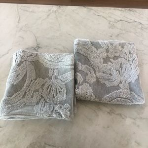 Pottery Barn Grey Patterned Pillow Covers (2)